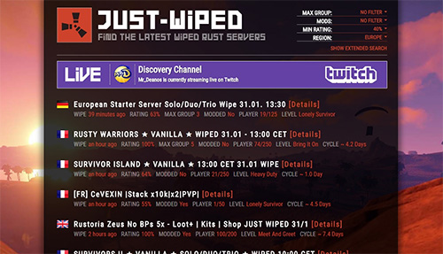 Preview of a Stream Notification