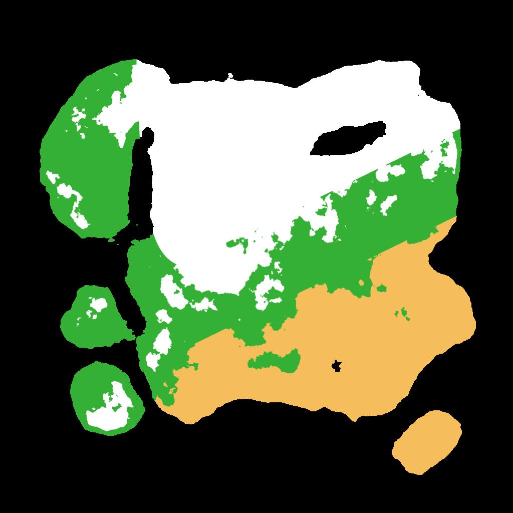 Biome Rust Map: Barren, Size: 2500, Seed: 2052021