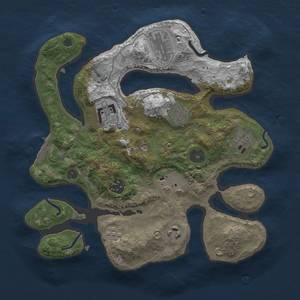 Thumbnail Rust Map: Procedural Map, Size: 3000, Seed: 1393631742, 12 Monuments
