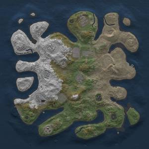 Thumbnail Rust Map: Procedural Map, Size: 3750, Seed: 724454953, 16 Monuments