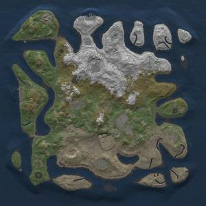 Rust Map: Procedural Map, Size: 4250, Seed: 1984575338, 16 Monuments