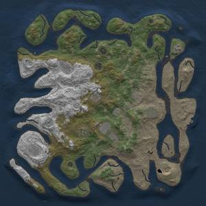Rust Map: Procedural Map, Size: 4500, Seed: 1734129386, 15 Monuments