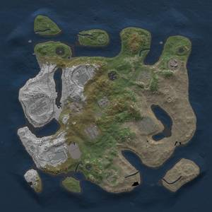 Thumbnail Rust Map: Procedural Map, Size: 3500, Seed: 839456019, 14 Monuments