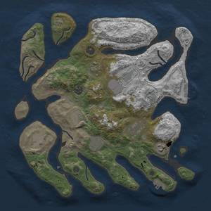 Thumbnail Rust Map: Procedural Map, Size: 3600, Seed: 175878913, 13 Monuments