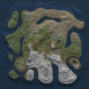 Thumbnail Rust Map: Procedural Map, Size: 3750, Seed: 29764255, 16 Monuments