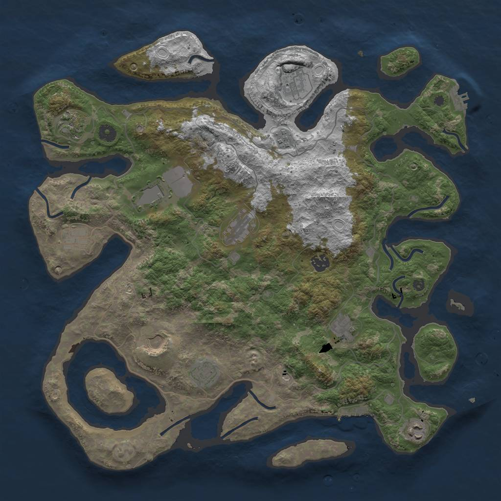 Rust Map: Procedural Map, Size: 4250, Seed: 778289632, 22 Monuments