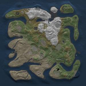Thumbnail Rust Map: Procedural Map, Size: 3700, Seed: 93081244, 21 Monuments