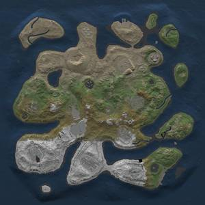 Thumbnail Rust Map: Procedural Map, Size: 3500, Seed: 66830197, 19 Monuments