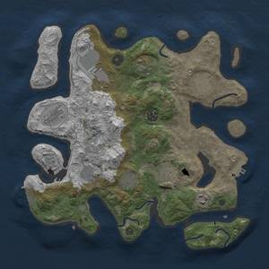 Thumbnail Rust Map: Procedural Map, Size: 3500, Seed: 1525333799, 18 Monuments