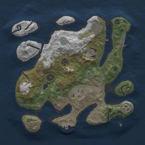 Thumbnail Rust Map: Procedural Map, Size: 3000, Seed: 872350941, 13 Monuments