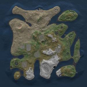 Thumbnail Rust Map: Procedural Map, Size: 3500, Seed: 1472261104, 18 Monuments