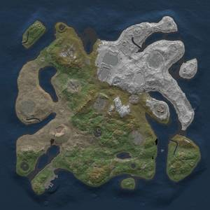 Thumbnail Rust Map: Procedural Map, Size: 3700, Seed: 1470732804, 18 Monuments