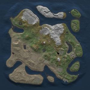 Thumbnail Rust Map: Procedural Map, Size: 3700, Seed: 454273568, 19 Monuments