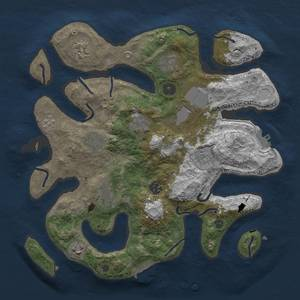 Thumbnail Rust Map: Procedural Map, Size: 3500, Seed: 435847550, 18 Monuments