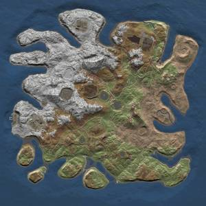 Thumbnail Rust Map: Procedural Map, Size: 4000, Seed: 21, 13 Monuments